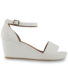 Wittner Ladies Shoes White Leather Wedges