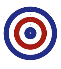 RED WHITE BLUE air rifle AIRGUN targets AIRSOFT SHOOTING 10m 33ft Target 17cm