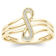 10Kt Yellow Gold Diamond Infinity Knot Ring