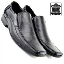 Mens Gents Slip On Upper Leather Wedding Office Formal Smart Dress Black Shoes