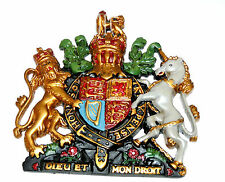 British Royal Coat of Arms Wall Crest Plaque | Hanging Model | Unicorn Lion