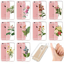 Fast Ship Retro Floral Transparent Clear Skin Gel Case For IPhone 5S 5 6 6S 5SE