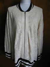 Free People Women's Ivory Comb Linen/Cotton Cardigan Small, Medium $168 NWT