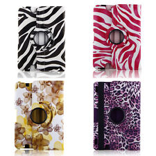 Fashion PU Leather 360 Rotating Case Cover Stand For Amazon  kindle fire HD 8.9