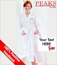 Mens/Ladies Waffle Bath Robe, Dressing Gown PERSONALISED Gift TC086