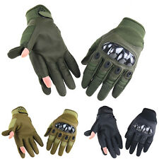 Motorcycle Tactical Gear Military Airsoft Carbon Knuckle Full Finger Gloves