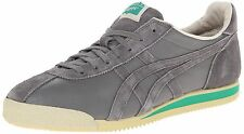 Onitsuka Tiger Casual Fashion Leather Corsair Gray Mens Shoes Sneakers