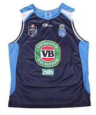 NSW SOO  NEW SOUTH WALES 2014  BLUES TRAINING SINGLET MENS PLAYERS REPLICA