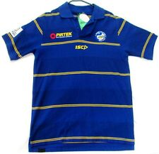 PARRAMATTA EELS NRL YELLOW & BLUE STRIPED MEDIA POLO SHIRT MENS ADULT