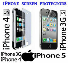 iPHONE 3 3GS, IPHONE 4 4S AND IPHONE 5 SCREEN PROTECTORS FILM