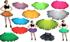 Plus SIze Neon Angel Witch Black Purple Pink 7 Layers Pointed Tutu Size 16 - 20