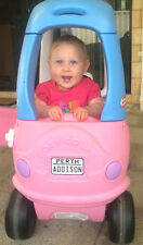 Australian Personalised Number Licence Plate fits Little Tikes Cozy Coupe car