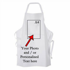White Personalised Adult Apron with your Image / Text / Image & Text