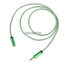 3.5mm Male to Female Stereo Audio Headphone Extention Cable Cord 1M 8 Green