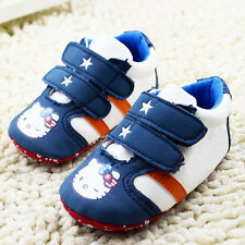 Baby Girl Toddle infant Soft Sole Crib Shoes sneaker size newborn to18 Months