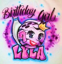 Girls Bowling Birthday Party T SHIRT Personalized Glow Bowling Ball Bowl