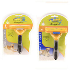 Yellow Furminator Deshedding Brush Tool for Large Dogs,Short Hair,Long Hair