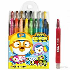 Pororo Mini 16 colors pack children's crayon twistables Colored Pencils Drawing