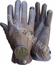NEW TOP QUALITY REAL SOFT LEATHER UNLINED MENS DRIVING GLOVES RETRO -D507