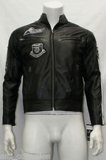 Falcon Mens Slim Fit Soft Light Weight Sports Fashion Nappa Sheep Leather Jacket