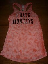 "VICTORIAS SECRET PINK ""PINK"" ""I HATE MONDAYS""TIE DYE BEACH SWIM LONG COVERUP NWT"
