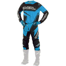 Oneal 2017 NEW Mx Youth Element Black Cyan Blue Kids Motocross Gear Set & Gloves