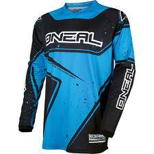 Oneal 2017 NEW Kids Mx Gear Element Black Cyan Blue Youth Motocross Jersey