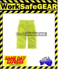 Rain Pants PVC Lime Green Protective Workwear Wet Weather Gear Safety Workwear