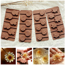 New Lips Lollipop Cake Mold Flexible Silicone Mould For Candy Chocolate+Sticks