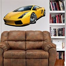 Lamborghini Gallardo WALL GRAPHIC DECAL MAN CAVE ROOM GARAGE 5311