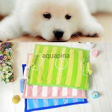 Cute Pet Puppy Dog Cat Soft Warm Bed Cushion Cozy Football Mat Pad House S L