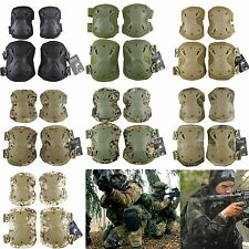 4X Airsoft Tactical Combat Knee Elbow Pads Protective Skate Pad Sport Gear Safe