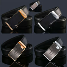 Casual Men's Genuine Leather Automatic Buckle Belts  Waist Strap Belt Waistband