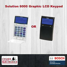 BOSCH SOL-6000 LCD Graphic Keypad | Alarm Code Pad | Black or White | Solution