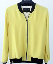 River Island Yellow Woven Bomber Jacket NEW in Sizes 6 to 18