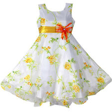 NWT Girl Dress Flower Print Party Pageant Wedding Bridesmaid Kids Clothing 4-12Y