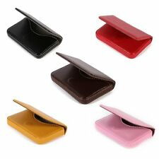 Portable Business ID Credit Card Wallet Holder Pocket PU Leather Case Waterproof