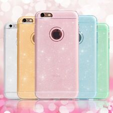 Ultra Thin Bling Glitter Silicone Gel Rubber Case Cover For iPhone 5S 6 6 Plus