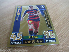 Match Attax Champions League 15/16 Lionel Messi Gold Limited Edition Spanish!!
