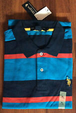 U.S.Polo Assn - Men's Polo T-Shirt in Navy/Red/Blue Stripe (NRB-31c)