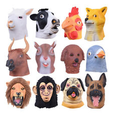 Funny Diverse Animal Head Latex Mask Halloween Fancy Dress Party Mask Costume