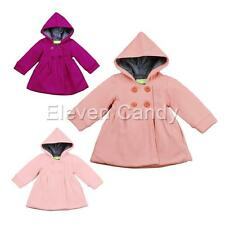 Baby Girls Toddlers Kids Warm Hooded Jacket Coat Winter Hoodie Outwear SZ 12M-3Y