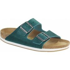 Birkenstock ARIZONA Ladies Womens Oiled Leather Buckle Summer Sandals Turquoise