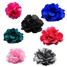 Silk Flower Hair Clip Wedding Corsage Flower Clip 8cm HP