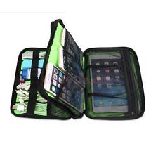 Double-layer Muti-Function Storage Carry Bag Case for USB Cable Tablet Pouch