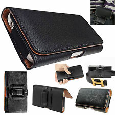 Universal PU Leather Belt Clip Holster Flip Case Cover For Various Mobile Phones
