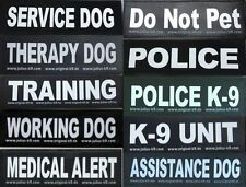 Small Velcro Patch for Julius K9 Harness Letters L-Z  NEW SERVICE DOG POLICE K-9