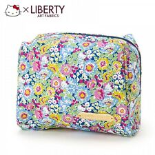 Hello Kitty x LIBERTY Makeup Pouch Cosmetic Case Bag Purse Japan S5502