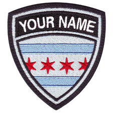 CHICAGO CUSTOM CREST FLAG NAME EMBROIDERED PATCH