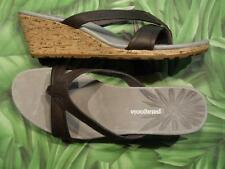 PATAGONIA SOLIMAR WEDGE SLIDE Sable Brown Leather Sandals Womens NEW Box